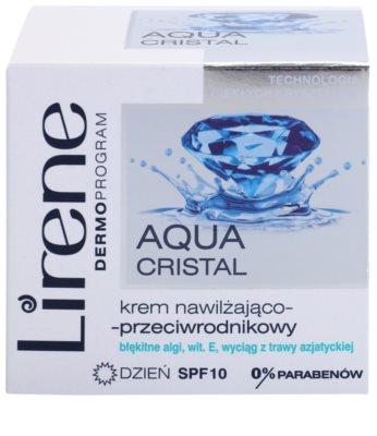 Lirene Aqua Cristal krem nawilżający na dzień przeciw starzeniu skóry SPF 10 2