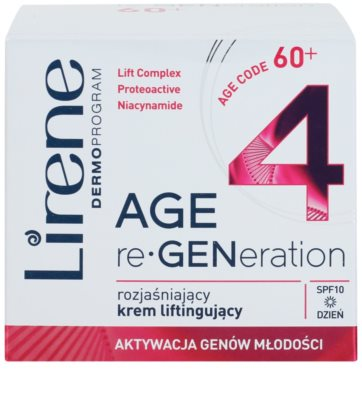 Lirene AGE re•GENeration 4 posvetlitvena lifting krema SPF 10 2