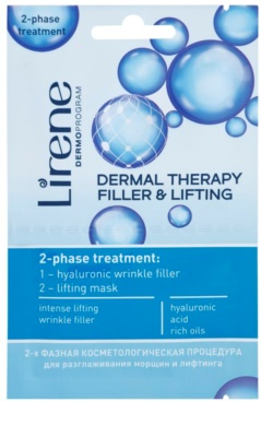 Lirene Dermal Therapy Filler & Lifting máscara de cuidado bifásica