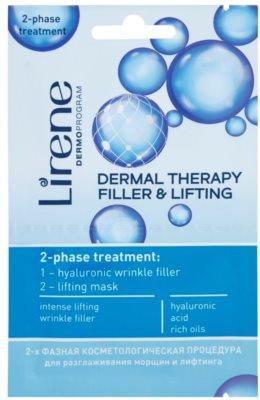 Lirene Dermal Therapy Filler & Lifting mascarilla nutritiva bifásica