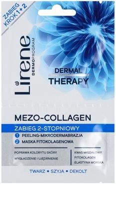 Lirene Dermal Therapy Mezo-Collagen maska oczyszczająca z peelingiem o działaniu odmładzającym