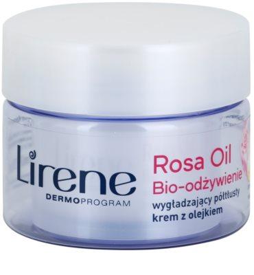 Lirene Essential Oils Rose odżywczy krem wygładzający  do skóry dojrzałej