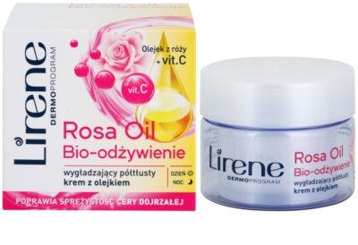 Lirene Essential Oils Rose nährende und glättende Creme für reife Haut 1