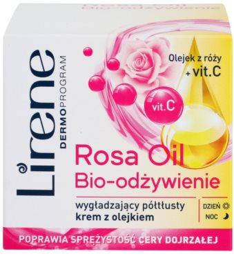 Lirene Essential Oils Rose nährende und glättende Creme für reife Haut 2