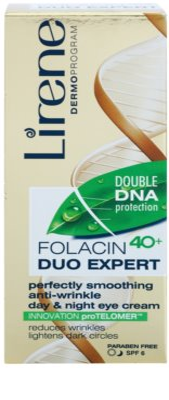 Lirene Folacyna 40+ crema para contorno de ojos suavizante antiarrugas 2