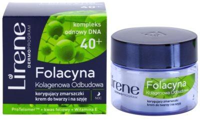 Lirene Folacyna 40+ crema de noapte pentru reintinerire 1