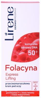 Lirene Folacyna 50+ crema cu efect lifting pentru ochi SPF 10 2