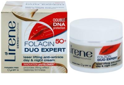 Lirene Folacin Duo Expert 50+ creme lifting de dia e noite SPF 10 1