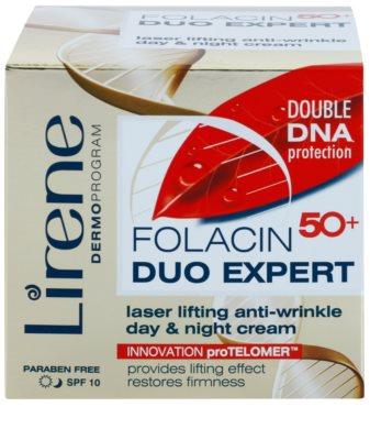 Lirene Folacin Duo Expert 50+ creme lifting de dia e noite SPF 10 2