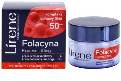 Lirene Folacyna 50+ nočna lifting krema za učvrstitev kože 1