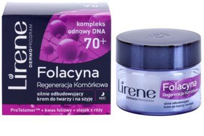 Lirene Folacyna 70+ noční krém pro obnovu pleťových buněk 1