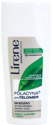 Lirene Folacyna + loción facial desmaquillante con efecto lifting para rostro y ojos