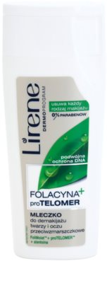 Lirene Folacyna + szemfestéklemosó tej bőrnyugtató hatással az arcra és a szemekre