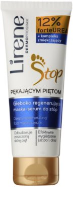 Lirene Foot Care tiefenwirksame regenerierende Maske und Serum 2 in 1 für Füssen