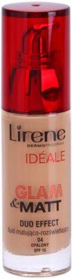 Lirene Idéale Glam&Matt mattierendes Make up-Fluid zur Verjüngung der Gesichtshaut