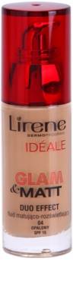 Lirene Idéale Glam&Matt матиращ флуид фон дьо тен за озаряване на лицето