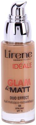Lirene Idéale Glam&Matt matující fluidní make-up pro rozjasnění pleti 1