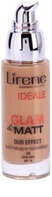 Lirene Idéale Glam&Matt matirajoči fluidni tekoči puder za osvetlitev kože 1