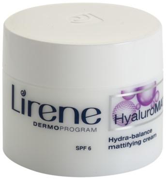 Lirene HyaluroMat crema matificante con ácido hialurónico SPF 6
