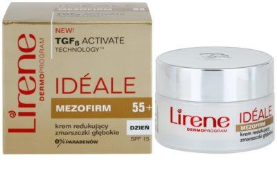 Lirene Idéale Mezofirm 55+ crema contra las arrugas profundas SPF 15 2