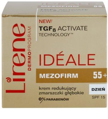 Lirene Idéale Mezofirm 55+ crema contra las arrugas profundas SPF 15 3