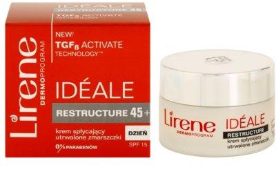 Lirene Idéale Restructure 45+ denný spevňujúci a protivráskový krém SPF 15 2