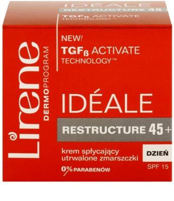 Lirene Idéale Restructure 45+ дневен стягащ крем против бръчки  SPF 15 3