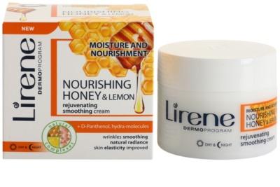 Lirene Moisture & Nourishment verjüngende und straffende Creme mit Honig und Zitrone 1