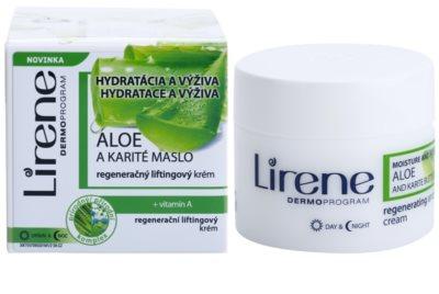 Lirene Moisture & Nourishment crema lifting de regenerare cu aloe vera si unt de shea 1