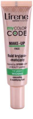 Lirene My Color Code maquillaje líquido con efecto mate