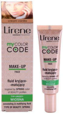 Lirene My Color Code maquillaje líquido con efecto mate 1