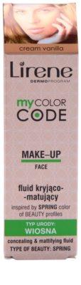 Lirene My Color Code maquillaje líquido con efecto mate 2