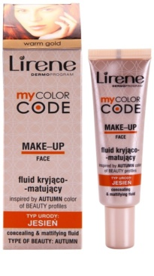 Lirene My Color Code base fluido com efeito matificante 1