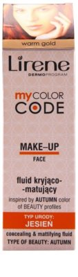 Lirene My Color Code base fluido com efeito matificante 2