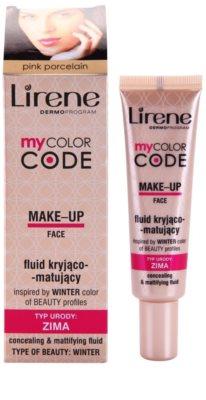 Lirene My Color Code fluid make-up matt hatással 1