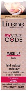 Lirene My Color Code fluid make-up matt hatással 2