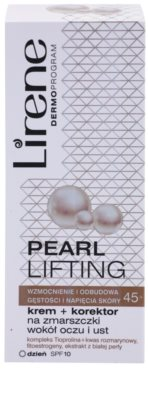 Lirene Pearl Lifting creme corretor para contorno dos lábios e olhos 45+ 2