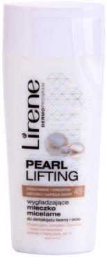 Lirene Pearl Lifting leite de limpeza micelar com efeito alisador
