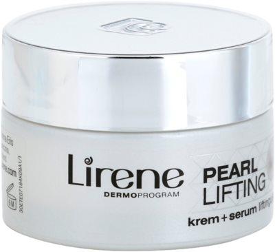Lirene Pearl Lifting creme do dia com os efeitos rejuvenescedores do sérum 45+