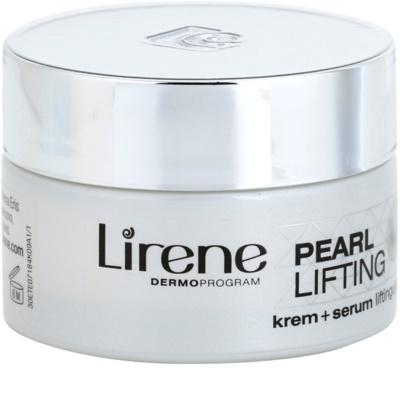 Lirene Pearl Lifting Tagescreme mit der verjüngenden Wirkung eines Serums 45+