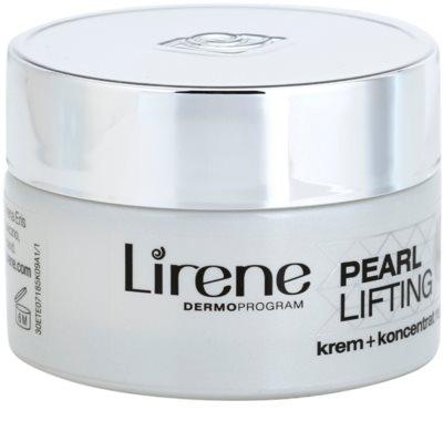 Lirene Pearl Lifting crema regeneradora de noche con efectos de serum 45+