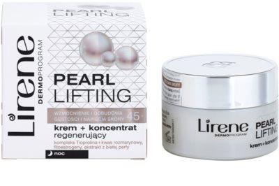 Lirene Pearl Lifting regenerierende Nachtcreme mit der Wirkung eines Serums 45+ 2