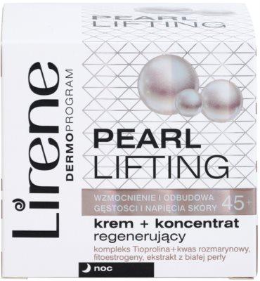 Lirene Pearl Lifting regenerierende Nachtcreme mit der Wirkung eines Serums 45+ 3