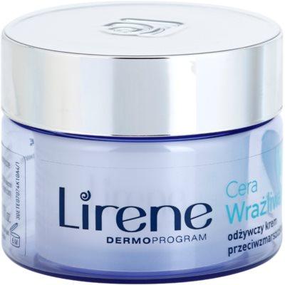 Lirene Sensitive Skin nährende Anti-Falten Creme SPF 15