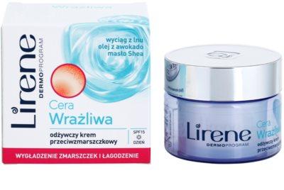 Lirene Sensitive Skin поживний крем проти зморшок SPF 15 1