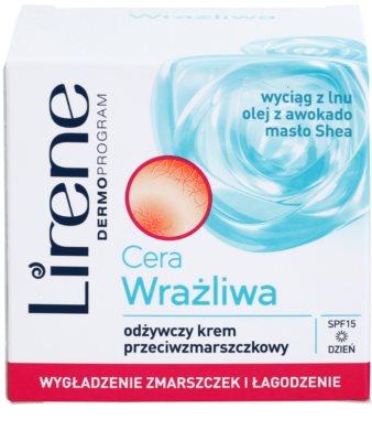 Lirene Sensitive Skin поживний крем проти зморшок SPF 15 2