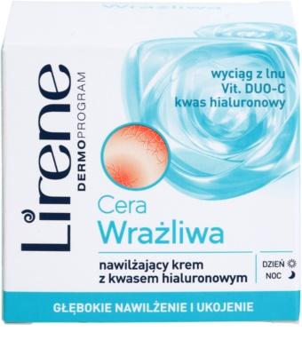 Lirene Sensitive Skin зволожуючий крем з гіалуроновою  кислотою 2
