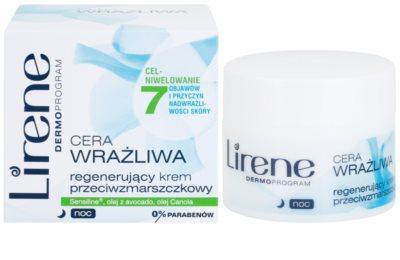 Lirene Sensitive Skin crema regeneratoare de noapte antirid 1