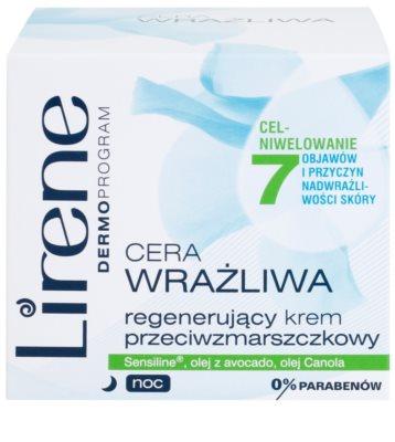 Lirene Sensitive Skin crema regeneratoare de noapte antirid 2