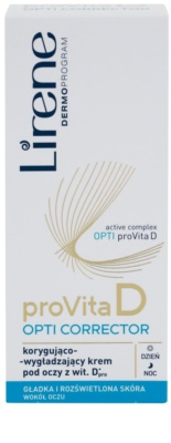 Lirene ProVita D Opti Corrector коригиращ околоочен крем за изглаждане на контурите 2